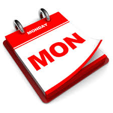 MONDAY EVENTS LISTED BELOW
