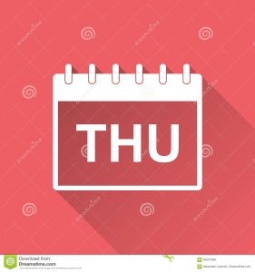 THURSDAY EVENTS LISTED BELOW