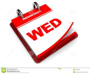 WEDNESDAY EVENTS LISTED BELOW
