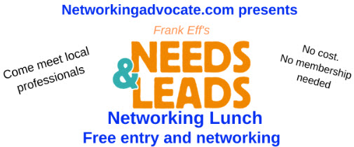 Needs & Leads Networking Lunch (open to all- no fees) @ Miku Sushi