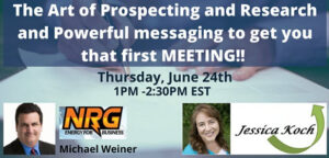 The Art of Prospecting & Research & Powerful messaging! @ Online Event