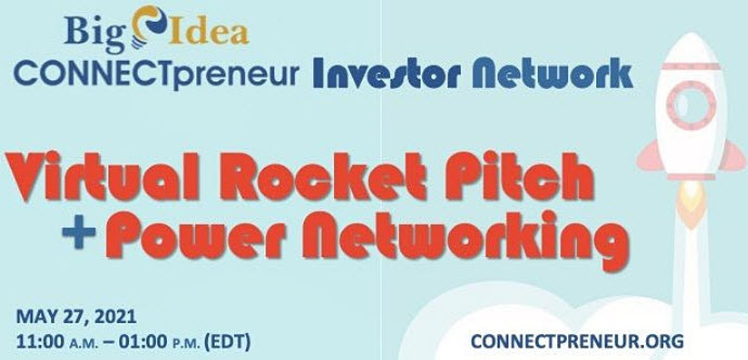 Rocket Pitch + Power Networking, @ Online Event