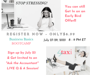 Business Basics Bootcamp @ Zoom/Facebook Virtual Event